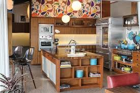 Walnut Cabinetry And Pegboard Backsplash Perfect For Hanging A Blossoming Collection Of Colorful Pots Pans This Kitchen Is Inspired By The Past