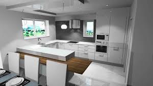 cuisine moderne ouverte deco cuisine ouverte chambre poudre et blanc salon salle a
