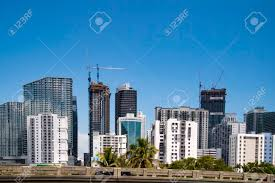 100 Miami Modern City Skyline And Buildings N The Downtown During