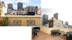 Orchard Garden Hotel Rooftop bar in San Francisco