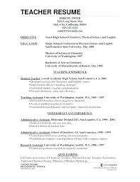 Teacher Resume Samples Sample Best Example Teaching Resumes Examples For Teachers Templates Or Secondary