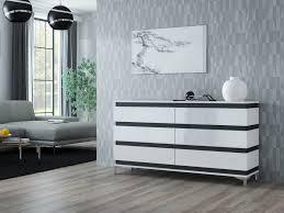 zebra kommode sideboard mit füßen hochglanz weiß schwarz sonoma 160 cm