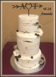 Beautiful Country Rustic Birch Tree Wedding Cake By Rush City Bakery MN