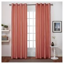 Target Pink Window Curtains by Chatra Faux Silk Grommet Top Window Curtain Panel Pair Exclusive