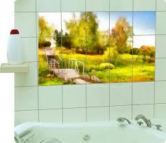 fliesenaufkleber fliesenbild fliesen aufkleber sticker badezimmer kunst bad