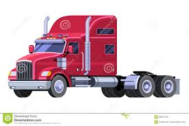 Classic Tractor Truck With Sleeper Cab Stock Vector - Illustration ...