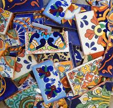 Mexican Shell Stone Tile by Amazon Com Broken Mexican Talavera Tiles Handmade Mix Designs 10