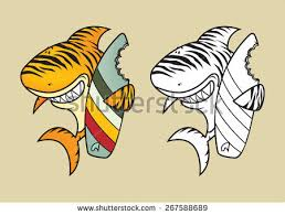 Decorative Surfboard With Shark Bite by Shark Bite Stock Images Royalty Free Images U0026 Vectors Shutterstock