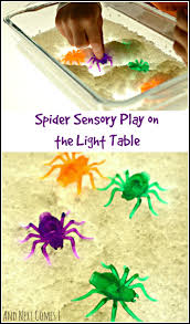 Preschool Halloween Spider Books by Spider Sensory Play On The Light Table And Next Comes L