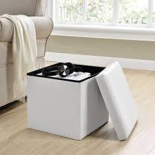 sitzhocker weiß 38x38x38cm sitzwürfel aufbewahrungsbox