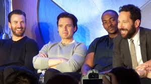 Captain America Civil War Team Cap Press Conference W Chris Evans Kevin Feige Paul Rudd