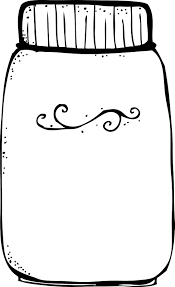 Pin Jar Clipart Coloring Page 2