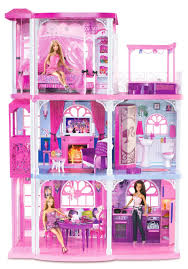 barbie 3 story dream town house 55 pieces w furniture lights