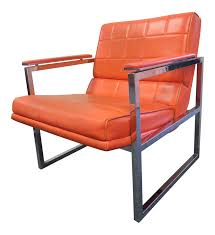 1970s Mid-Century Modern Chromcraft Orange & Metal Flat Bar Arm Chair Mid Century Modern Chromcraft Tulip Swivel Barstool Chairs Armchairs Sofas Galerie Zeitloos Fiberglass Lounge Chair By Milo Baughman For Thayer Coggin Star Trek Model Chairs 1960s Set Of 4 Four Chromecraft Ding Sculpta Midcentury Qasynccom Six Alex 181 Chromcraft Lounge Pair Mass Custom With Casters And Tube Steel Armchairs In Lavender