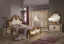 schlafzimmer anja beige bett 180 schrank 6trg italien barock