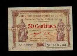 chambre de commerce dijon 50 centimes chambre de commerce de dijon 1917 p nl f vf ebay