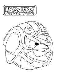 Angry Birds Star Wars Coloring Pages Yoda 3