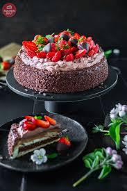 schnelle schokoladen erdbeer torte kuchen und torten