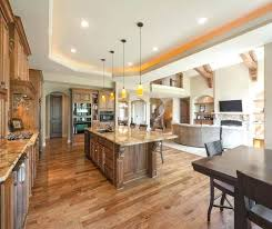 Kitchen Family Room Open Floor Plan Living Dining Combination Layout Home Interior Decorating Jobs