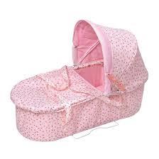Badger Basket Doll Bed by Badger Basket Rosebud 3 In 1 Doll Carrier Stroller Pink Target