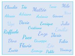 des idées de prénoms italiens pour garçons baby note