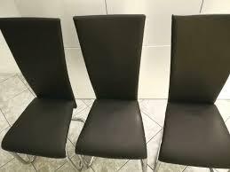6x esszimmer stühle stuhl schwarz schwingstühle kunstleder