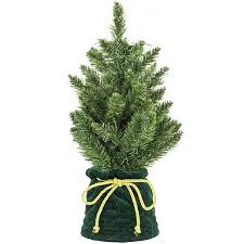 18 Artificial Table Top Christmas Tree Seedling In Decorative Green Bag