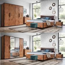 schlafzimmer komplett lotos set b schrank 4t bett 160 180x200 2 nachttische kommode