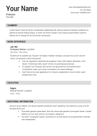 Template For Job Resume Examples Jobs With Little Experience Example