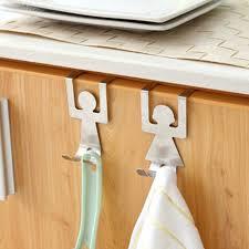 großhandel 2 teile satz edelstahl schranktür schublade haken kleiderbügel handtuchhalter home organizer küche zubehör lizhi123 4 1 auf