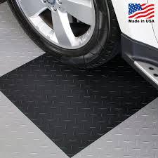 BlockTile Garage Flooring Diamond Top Interlocking Tiles Set of