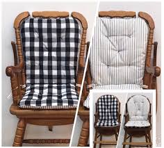 High Chair Cushion For Vintage Wooden High Chairs, Buffalo ...
