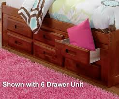 Twin Captains Bed With 6 Drawers by Merlot Twin Size Bookcase Captain U0027s Day Bed With Trundle Day