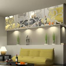 3D DIY Home Decoration Mirror Stick Modern Waterproof Design Living Room Bedroom Wall Stickers