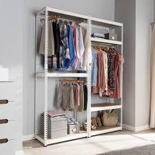 Baxton Studio Shoe Cabinet White by Baxton Studio Gavin White Metal 7 Shelf Closet Storage Racking