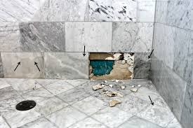 why marble isn t the best option in a shower or bath