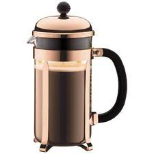 34 Oz Chambord Coffee Maker French Press Copper 3 Part Stainless Steel Plunger