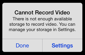 What Happens When Your iOS Device Runs Out of Storage Space