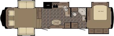 Travel Trailer Floor Plans With Bunk Beds by 2011 Cherokee 39h Quad Slide 3 Bedroom Bath And A Half Rv Trailer