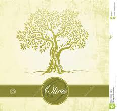 Vector olive tree on vintage paper For labels pack