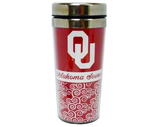 Gameday Outfitters University of Oklahoma Sooners Mug Travel Spiral (14oz) 36599
