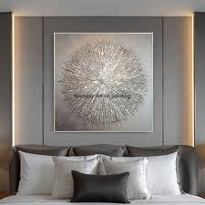 neue grau silber malerei 100 bemalte leinwand kunst