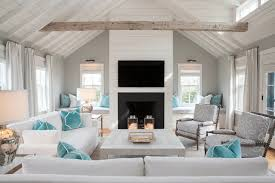 Endearing Light And Bright While Honoring Gray Of Beach Style Living Room