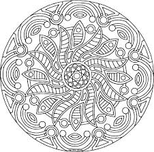 Detailed Coloring Pages For Adults Mandala