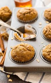 A Delicious And Healthy Recipe For Applesauce Muffins With Oatmeal Cinnamon Honey