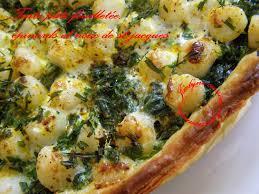 cuisiner les noix de st jacques surgel馥s tarte pâte feuilletée aux épinards et noix de st jacques