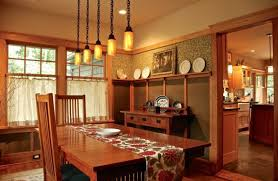 american craftsman furniture dining room with wood buffet table