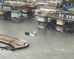 Tug Boat Sinks by Hurricane Harvey Roars Ashore In Texas 15 Rescued Near Port