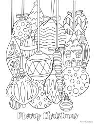 Download Coloring Pages Free Printable Christmas Ornament