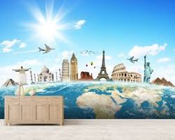 Monuments Of The World Wall Mural Wallpaper